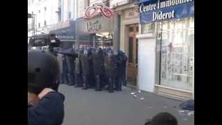 Protesters Clash With Police in Paris May Day Demonstration - Video