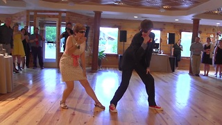 Mother and Son Perform An Epic Wedding Dance