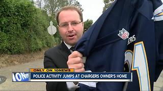 Police activity rises at Chargers owner Dean Spanos residence - Video