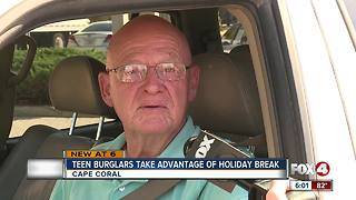 Teen burglars take advantage of holiday break - Video