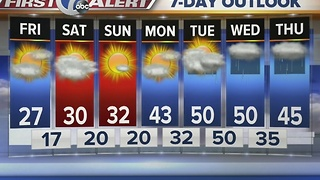 Autumns 7 First Alert forecast for January 13th for 7 Eyewitness News at Noon - Video