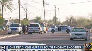 One dead, one hurt in south Phoenix shooting - Video