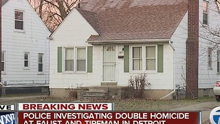 Double homicide in Detroit - Video