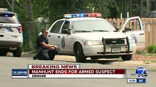 Denver Police snag wanted juvenile after neighborhood search - Video