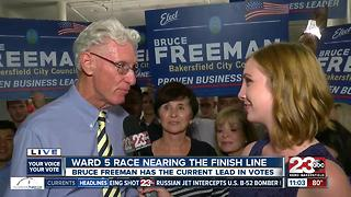 Bruce Freeman reacts to winning Ward 5 city council race - Video