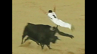 Guy Jumps Over A Bull - Video