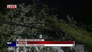Severe storm damage in Wayne - Video