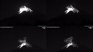 Popocatépetl Volcano Erupts Overnight in Mexico - Video