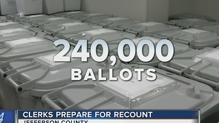 Clerks prepare for recount - Video