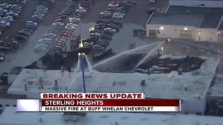 Massive fire rips through Buff Whelan Chevrolet in Sterling Heights - Video