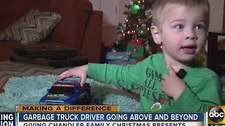 Garbage truck driver goes above and beyond for Valley kids - Video