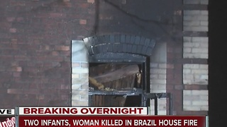 2 infants, woman killed in Brazil, Ind. fire - Video