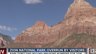 Zion National Park is packed, even during winter - Video