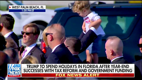 Stop What You're Doing and Watch Trump Drop Everything to Play With a Kid