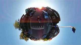 Man Creates Tiny Planet While Riding Longboard - Video