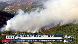 Wildfire growing at Brian Head - Video
