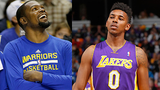 Kevin Durant ROASTS Nick Young After Warriors Sign Him - Video