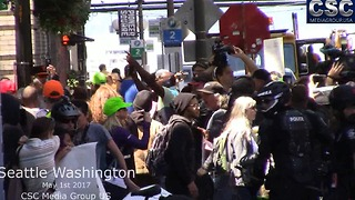 Fists And Glitter Fly As Tensions Boil Over At Seattle #MarchAgainstSharia - Video