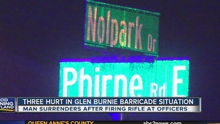 3 hurt in Glen Burnie barricade situation - Video