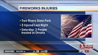 Firework injuries reported over the weekend - Video