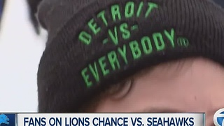 Lions' fans talk team's playoff chances - Video