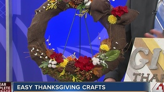 Spruce up your home with some easy thanksgiving crafts - Video