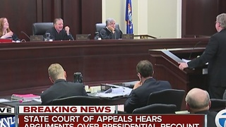 Court of Appeals hears recount case - Video