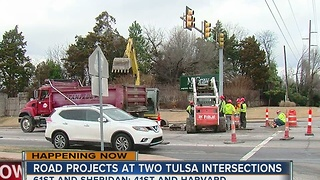 Road projects start for Tulsa's two major intersections - Video