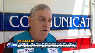 Dozens take part in disaster training drill in Medina County - Video