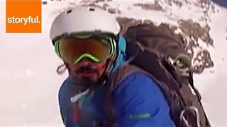 Snowboarding Down the Slopes of Colorado - Video
