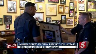Opry Mills Mission BBQ Honors Officer Mumaw With Memorial - Video