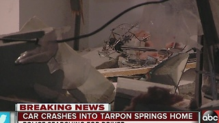 Car crashes into Tarpon Springs home - Video