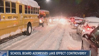 West Seneca school board addresses lake effect controversy - Video