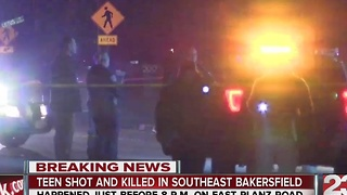 19yo shot and killed in SE Bakersfield - Video