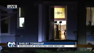 Explosion at suspected home meth lab - Video