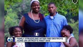 Detroit family trying to recover after losing everything in a devastating fire