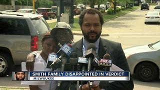 Sylville Smith's family emotional after no guilty verdict