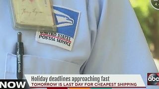 Thursday is deadline to mail packages the cheapest by USPS - Video