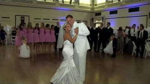 Bride And Groom Show Off With Their First Wedding Dance