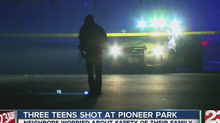 Three teens shot in East Bakersfield - Video