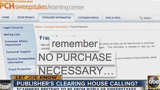Let Joe Know: Publisher's Clearing House scam - Video