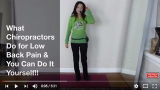Must Watch This!! What Chiropractors Do for Low Back Pain and DIY!!  - Video