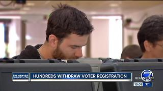 Hundreds withdraw Colorado voter registrations in response to compliance with commission request - Video