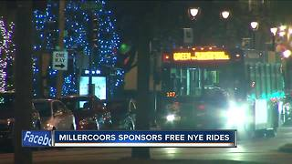 Miller Coors sponsors free rides for NYE - Video