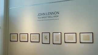 John Lennon's sketches up for auction - Video