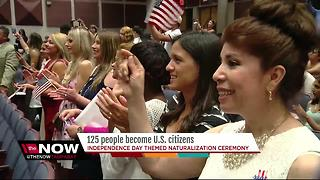 Independence Day themed naturalization ceremony