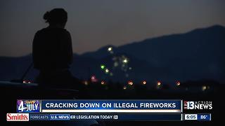 Numerous illegal fireworks in valley - Video