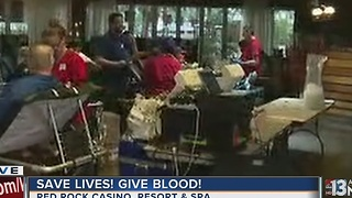 Blood Rocks drive at Red Rock hotel-casino - Video