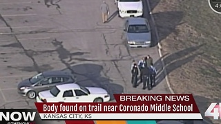 Body found on trail behind KCK middle school - Video