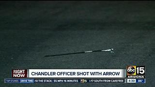 Suspect shoots Chandler police officer with an arrow - Video